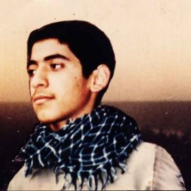 حضور شهید محمد مصطفی پور در مراسم ترحیم خود